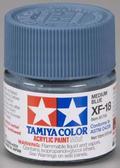 Акриловая краска 10мл.Mini XF-18 средний синий (матовая)