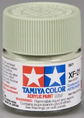 Акриловая краска 10мл Mini XF-21 небесный Tamiya 81721