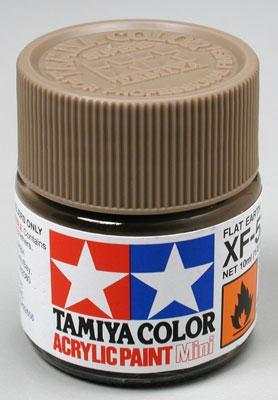 Акриловая краска 10мл Mini XF-52 земляной матовый Tamiya 81752