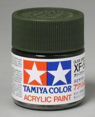 Акриловая краска 10мл Mini XF-58 оливково-зеленый (матовая) Tamiya 81758