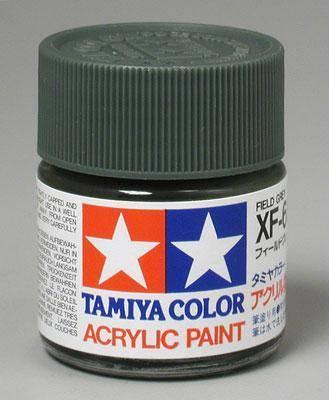 Акриловая краска 10мл Mini XF-65 полевой серый (матовая) Tamiya 81765