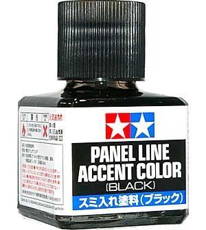 Краска для финальной отделки моделей (смывка, черная 40мл). Tamiya 87131