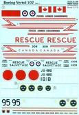 Декаль для вертолета Boeing-Vertol 107, часть 1
