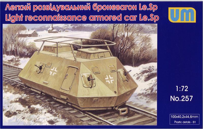 Легкий разведывательный броневагон Le.Sp Unimodels 257
