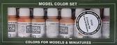 Набор красок Model Color Face & Skintones, 8 шт