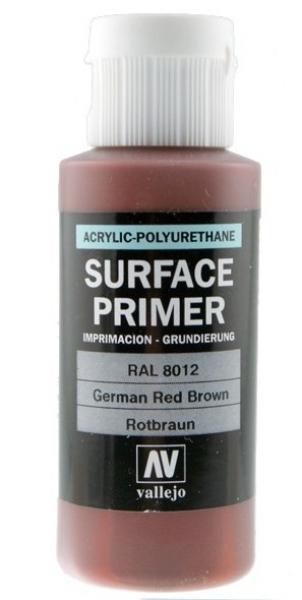 Акрил-полиуретановая грунтовка: German Red Brown RAL 8012, 17 мл Vallejo 70605