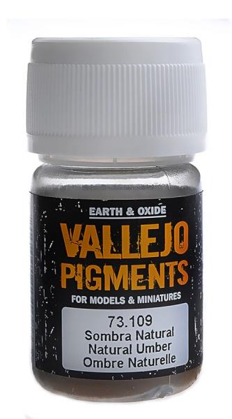 Пигмент художественный (умбра натуральная) Vallejo 73109