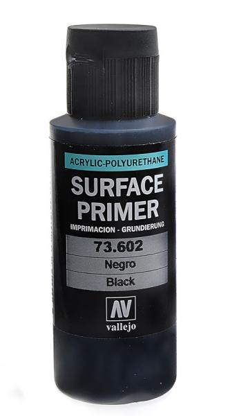 Акрил-полиуретановая грунтовка: Black Primer 60 мл Vallejo 73602
