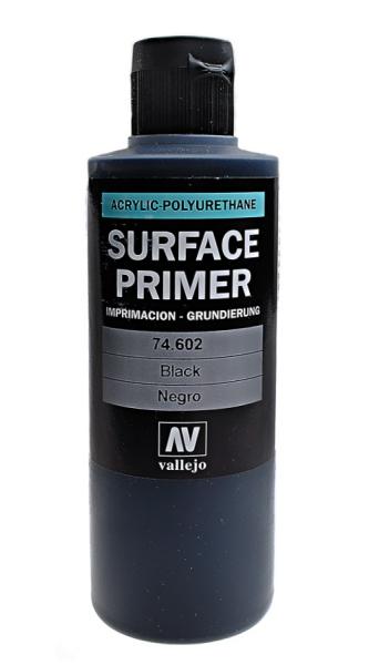 Акрил-полиуретановая грунтовка: Black Primer 200 мл Vallejo 74602