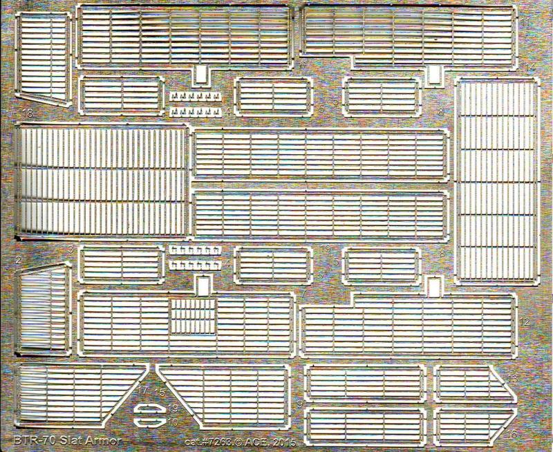 Фототравление: Слат-экраны для БТР-70 Ace 7263