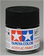 Акриловая краска 10мл Mini XF-1 матовый черный Tamiya 81701