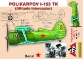 Высотный перехватчик Поликарпов И-153 ТК
