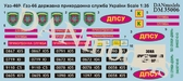 Декаль: Уаз-469, Газ-66, государственная пограничная служба Украины