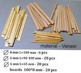 Материал для диорам, бревна и доски (материал - шпон, нагель-бук) от DAN models
