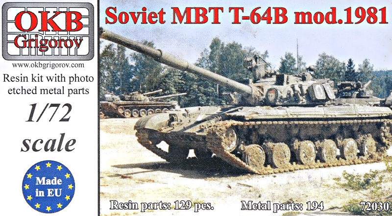 Советский танк T-64 Б, мод. 1981 г. OKB Grigorov 72030