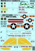 Декаль для самолета B-57 Canberra, часть 1