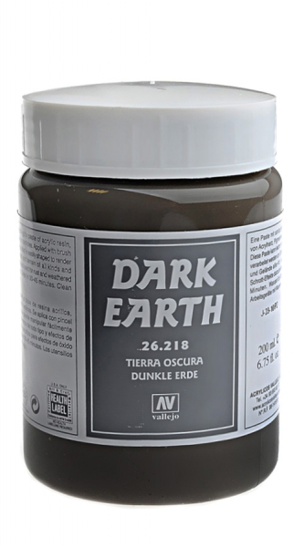 Имитация рельефа, темная земля - 200 мл Vallejo 26218