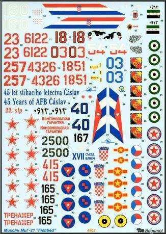MiG-21 decal Begemot 48002