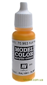 Краска акриловая Model Color 015 тепло-желтый