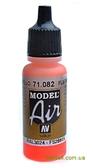 Краска акриловая Model Air флуоресцентный, красный