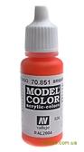 Краска акриловая Model Color 024 ярко - оранжевый