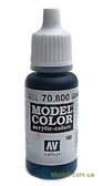 Краска акриловая Model Color 180 жженый металл, синий