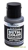 Краска акриловая Metal Color темный алюминий, 32 мл