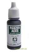 Краска акриловая Panzer Aces темная резина