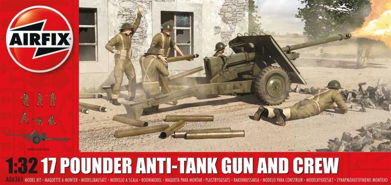 Противотанковая пушка Ordnance QF 17-pounder с расчетом Airfix 06361