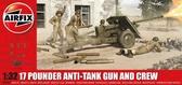 Противотанковая пушка Ordnance QF 17-pounder с расчетом