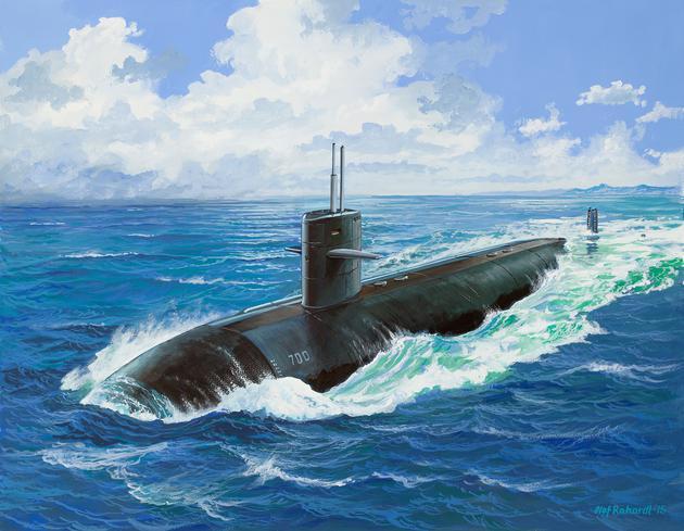 Подводная лодка (1981г.,США) USS DALLAS (SSN-700) Revell 05067
