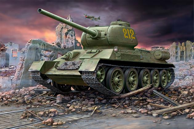 Средний советский танк T-34/85l Revell 03302