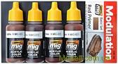 Набор акриловых красок Цветовая модуляция AMMO A-MIG-7002: Красная грунтовка, Германия