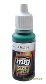 Цветной лак AMMO A-MIG-0092: Прозрачный зеленый