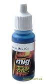Цветной лак AMMO A-MIG-0098: Прозрачный, светло-голубой