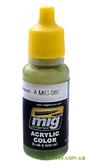 Акриловая краска AMMO A-MIG-0080: Ярко-зеленая