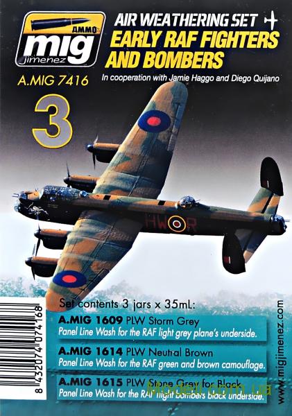 Набор загрязнения для авиации: II МВ, Британия, ранний период, истребители и бомбардировщики MIG (AMMO) 7416