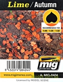 Листья A-MIG-8404: Осенние, лайм