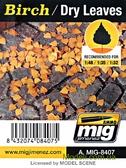 Листья A-MIG-8407: Сухие, березовые от MIG (AMMO)