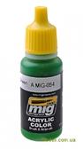 Акриловая краска AMMO A-MIG-0054: Сигнальный зеленый