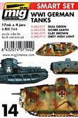 Набор акриловых красок AMMO A-MIG-7144: I мировая, немецкие танки