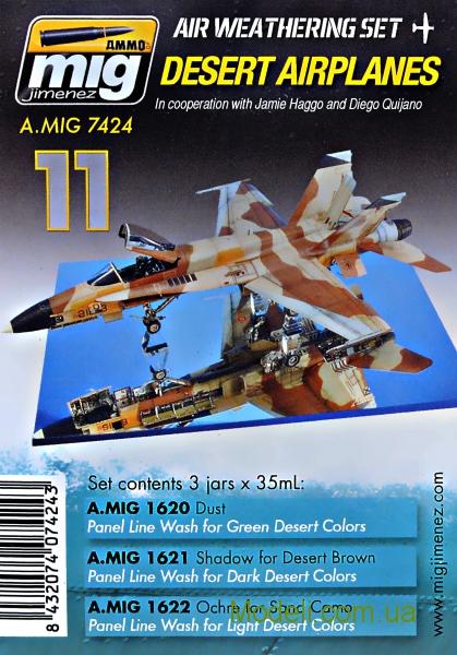 Набор загрязнения для авиации: Авиация в пустыне MIG (AMMO) 7424