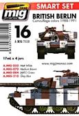 Набор акриловых красок AMMO A-MIG-7150: Бронетехника английской берлинской бригады, 1988-1991