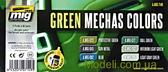 Набор акриловых красок AMMO A-MIG-7149: Звездные войны, техника, оттенки зеленого