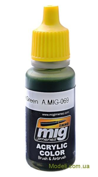 Акриловая краска AMMO A-MIG-0069: Зелено-голубая MIG (AMMO) 0069