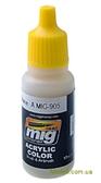 Акриловая краска AMMO A-MIG-0905: Темно-желтая, блестящая базовая