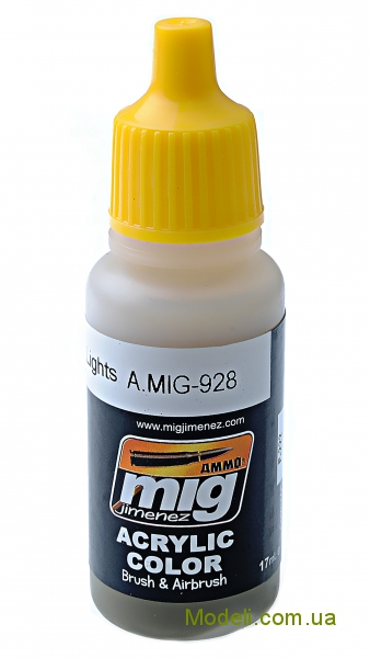 Акриловая краска AMMO A-MIG-0928: Оливковая, очень светлая базовая MIG (AMMO) 0928