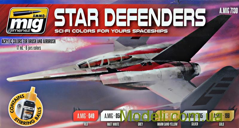 Набор акриловых красок AMMO A-MIG-7130: Звездные войны, авиация MIG (AMMO) 7130