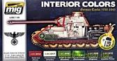 Набор акриловых красок AMMO A-MIG-7108: II мировая, интерьер немецких танков