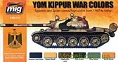Набор акриловых красок AMMO A-MIG-7113: Война 1967 года, египетская и сирийская бронетехника
